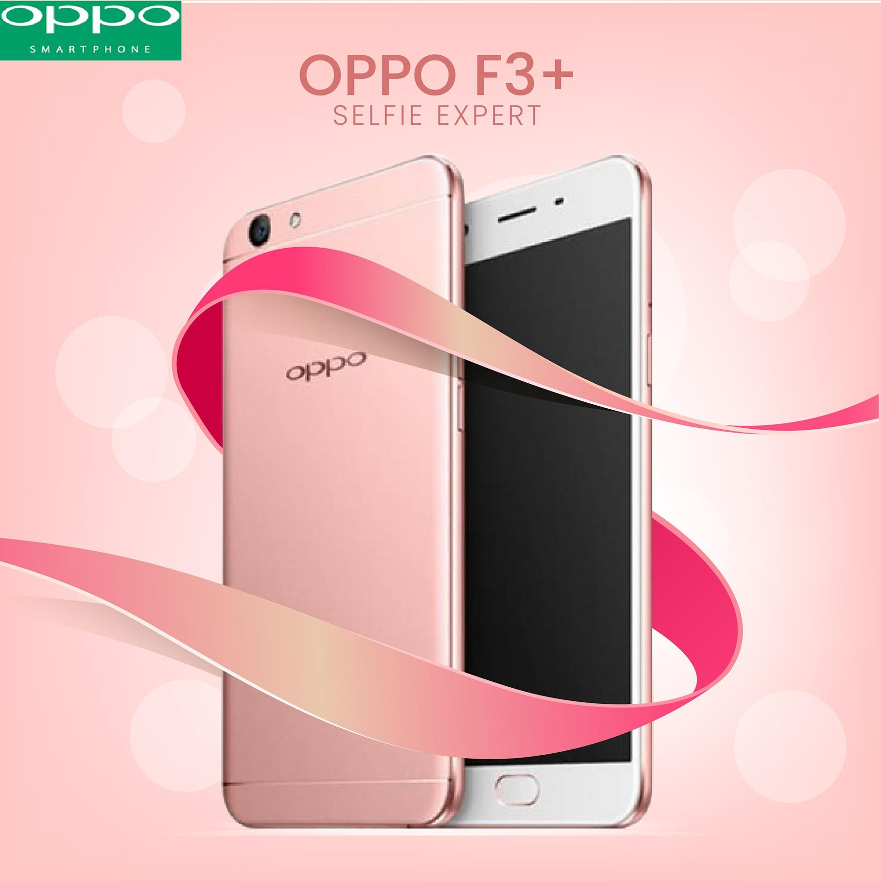 Oppo F3 Plus Selfie Expert 64 GB Ram 4 GB HARGA SPESIAL Gold FREE VR BOX