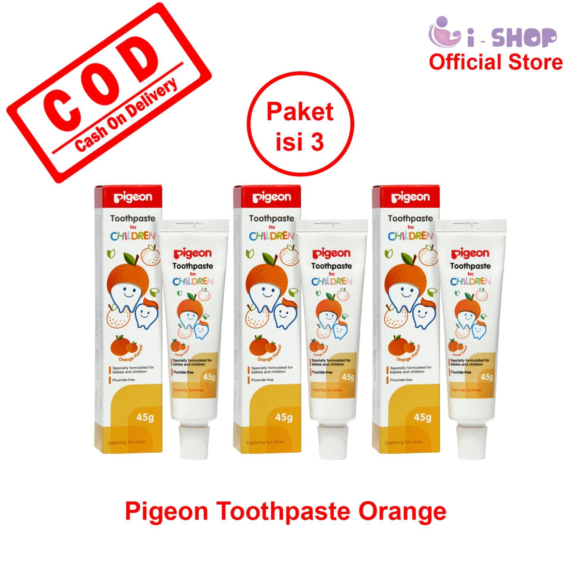 i-shop Pigeon Toothpaste 45 gram / Pasta Gigi Bayi dan Anak Rasa Buah 45 gr / Odol Bayi dan Anak Rasa Jeruk dan Strawberry 45gr / PR061