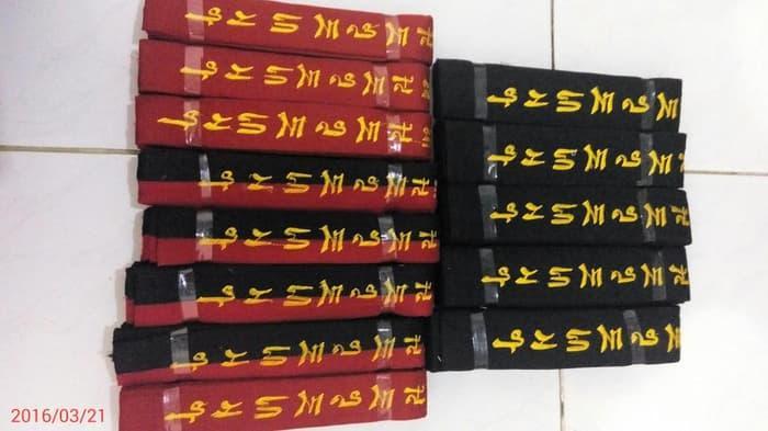 HOT SPESIAL!!! Sabuk Taekwondo Senior Bordir Tebal Hitam Merah Poom - ZXZ0Nm