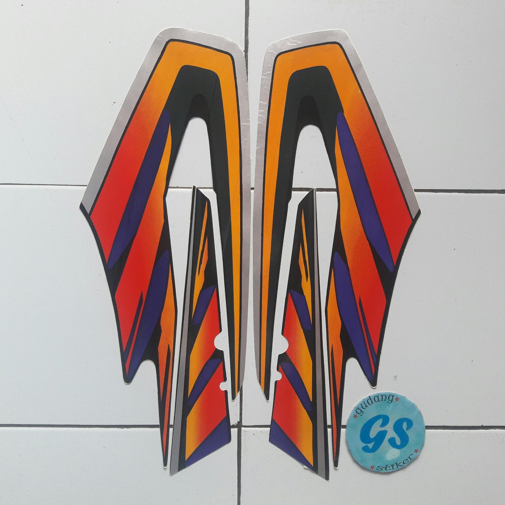 stiker motor striping yamaha Rx King 1997 merah
