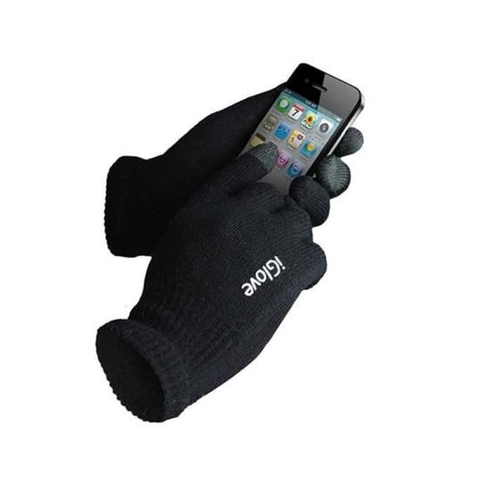 iGlove Touch Gloves for Smartphones & Tablet - Black - Aksesoris Handphone - Fashion Handphone
