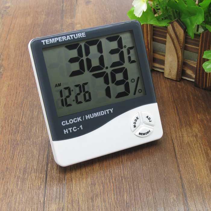Hygrometer Thermometer HTC-1 -Termometer Ruangan Digital LCD Murah Cantik dan Elegant