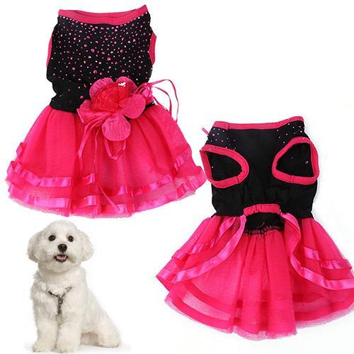 Broadfashion Pet Anjing Mawar Bunga Kasa Tutu Gaun Rok Anak Anjing Kucing Putri Pakaian By Broadfashion Store.