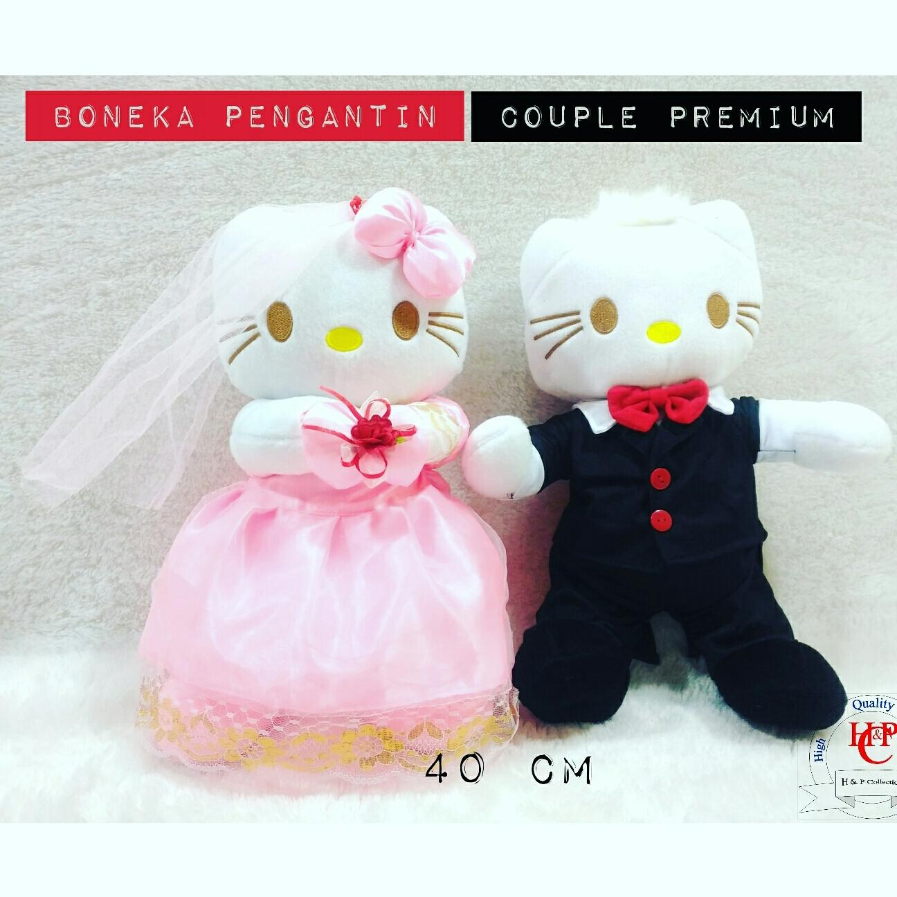 Boneka pengantin hello kitty wedding doll premium