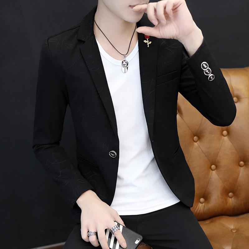 Pria musim semi dan musim gugur model baru Setelan jas kecil pria Gaya Korea membentuk tubuh