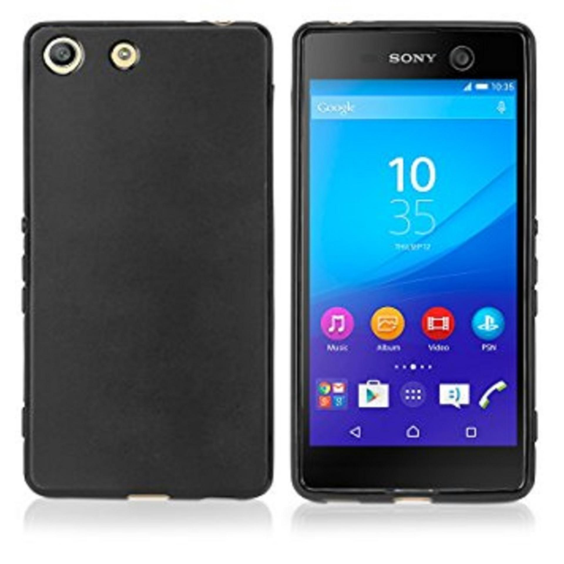 DarkNight for Sony Xperia Experia M5 (5″) / Docomo / Dual | Slim Case Black Matte Softcase Premium (Anti Minyak/Anti Sidik Jari) – Hitam Doff
