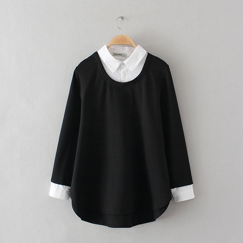 Baju Dalaman Yard Besar Longgar Jaket Wanita Orang Gemuk Ukuran Plus (Hitam)