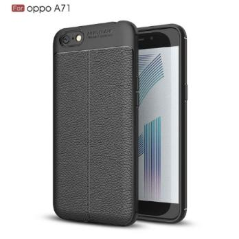Case Auto Focus Leather Slim For Apple Oppo A71 - Hitam