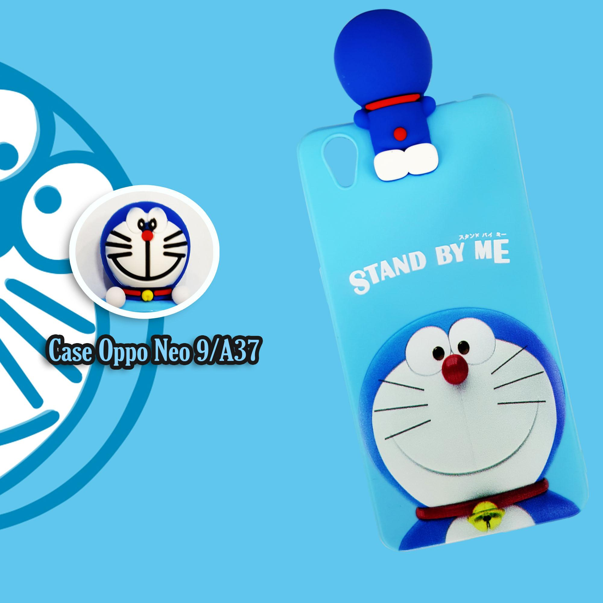 Case Oppo Neo9/A37 Doraemon Stand By Me Manjat