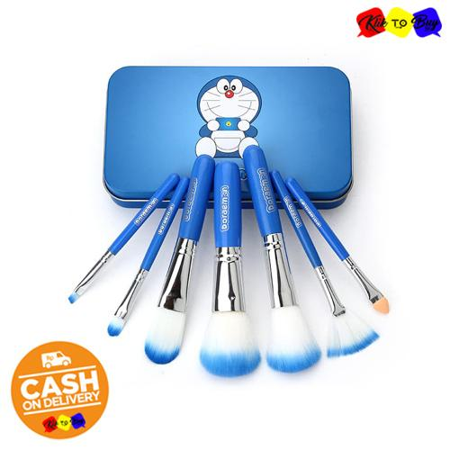 KTB - Doraemon Make Up Soft Brush Set 7 IN 1 Paket Set Kuas Make Up Doraemon Bulu Halus Kualitas Pr