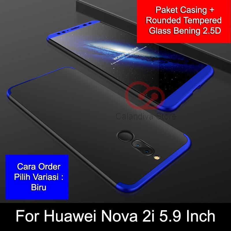 Calandiva Premium Front Back 360 Degree Full Protection Case for Huawei Nova 2i, Mate 10 Lite 5.9 I