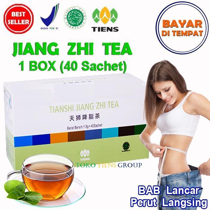 Tiens Teh Pelangsing Jiang Zhi Tea – 40 Sachet   Teh diet   Teh peluntur lemak   Teh buang lemak