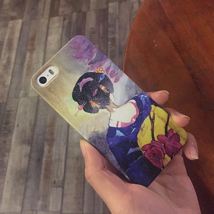 Padang Gurun Selubung Ponsel Hardcase IPhone6S PLUS Asli Jepang Siswi Lulur