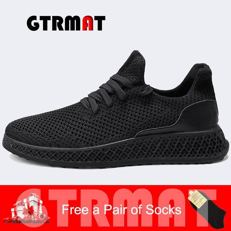 GTRMAT KAUS Pria Berlari Sepatu Kain Termal Ultra-light Redaman Sol Outdoor Pelatih Athletic Walking Olahraga Kets Sneakers Fashion Pria Luar Breather Sneakers- internasional