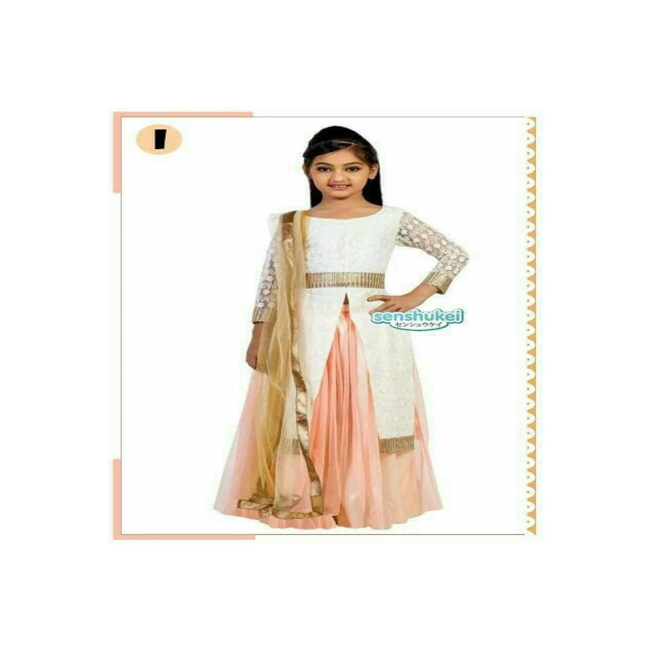setelan baju gamis anak sari india merk shensukei 17 i