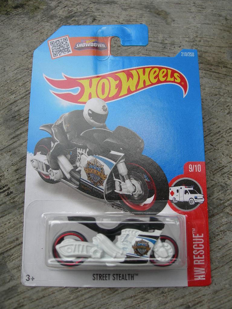 Gansatoy hot wheels 2016 B street stealth black-white gnz 504