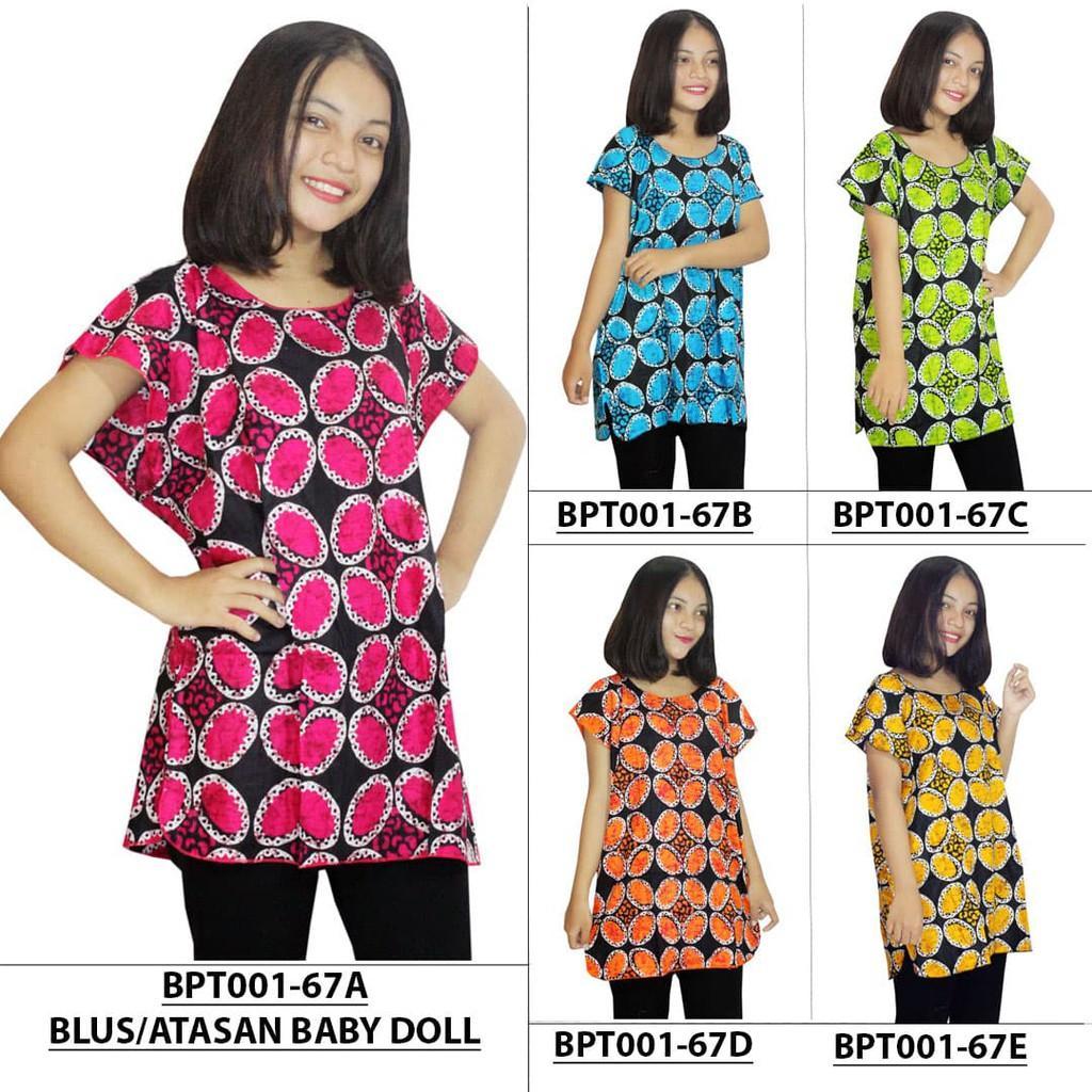 Atasan Santai- Kaos Sehari-Hari Wanita- Blouse Batik (BPT001-67)