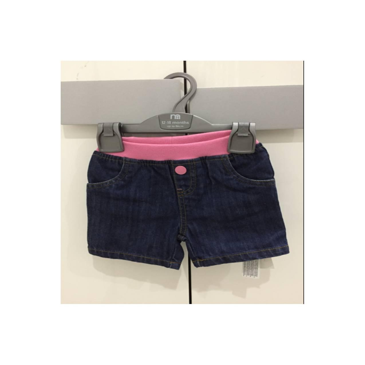 mothercare jeans shorts 12-18M