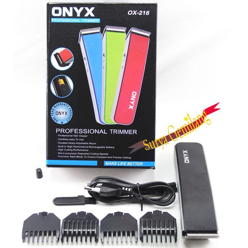 Clipper Onyx OX-206 Pencukur Kumis Jenggot Dan Rambut Multifungsi    Professional Trimmer Rechargable 31ee2ba3be
