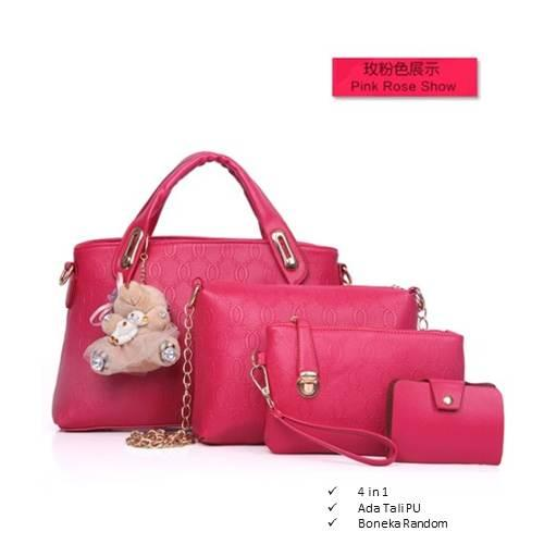 Tas Branded Wanita - Top-Handle Bags - PU Leather - 34053(4IN1) f83f32a2dc