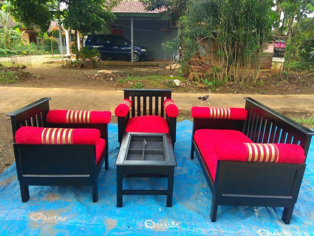 Sofa kayu minimalis 221 - JABODETABEK ONLY
