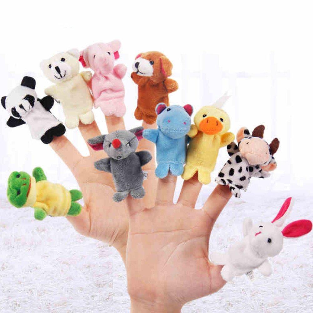 Lucky Dompet Boneka Anak Model Hewan Lucu Bebek Daftar Harga 10 Pcs Jari Satwa Finger Puppet Animal Seri