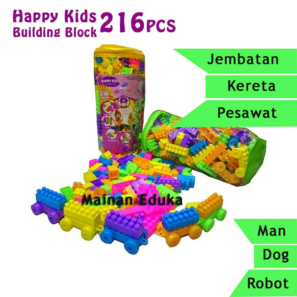 Happy Kids Building Block Tas Isi 216pcs