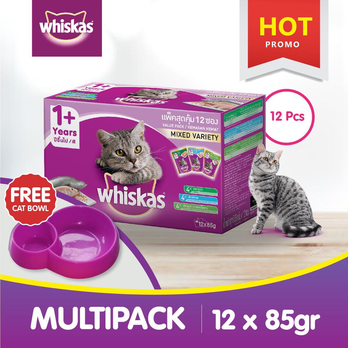 Makanan Kucing Terbaik Whiskas Dry 480gr Kering Rasa Chicken Isi 12 Pack Pouch 85 Gr Basah Mackerel Ocean
