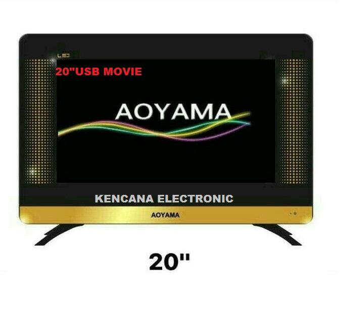 AOYAMA-20 INCH SLIM LED TV- USB MOVIE - Full HD Double Dan Panel Tempered Glass- FREE ONGKIR JABODETABEK