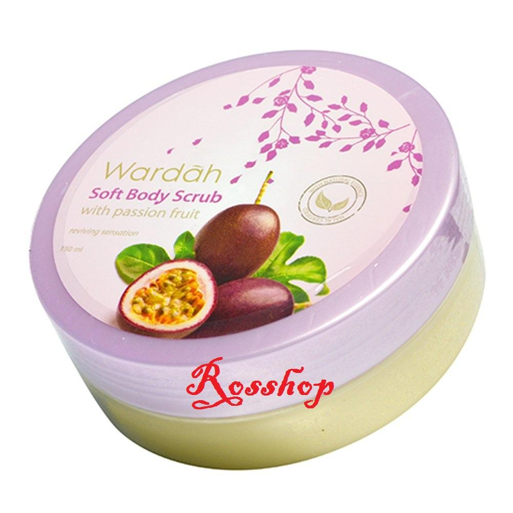 Wardah Soft Body Scrub With Passion Fruit - 150ml By Rosshop.