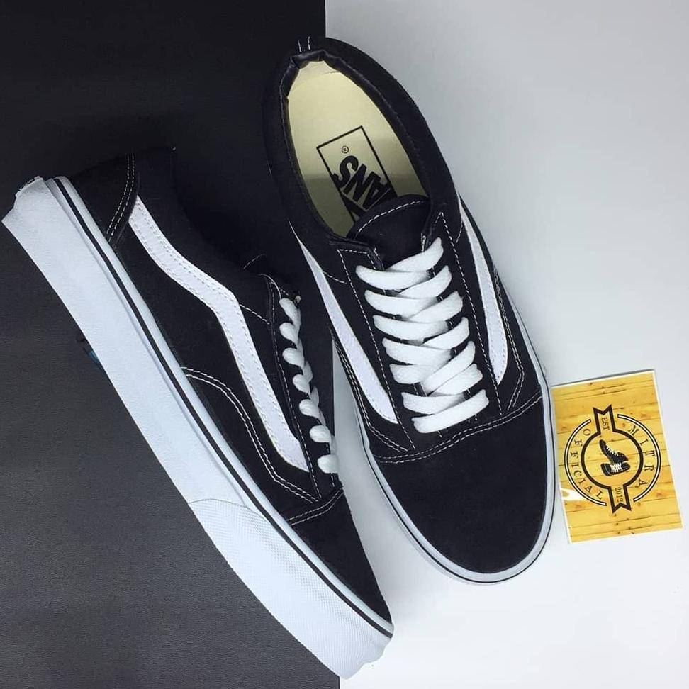 Sepatu Vans Old Skool Classic Black and White BNIB Original