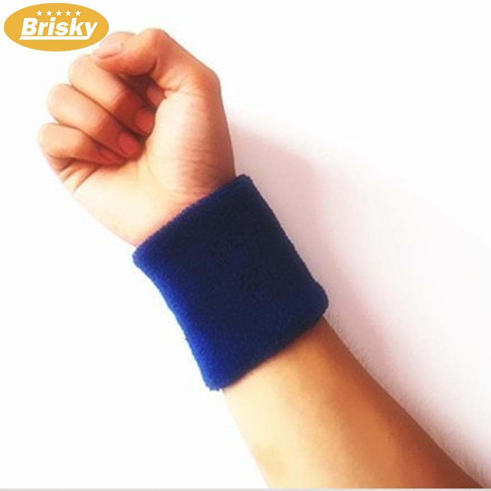 Brisky Unisex Terry Cloth Cotton Sweatband Sports Wrist Tennis Yoga Sweat Wristband By Brisky.