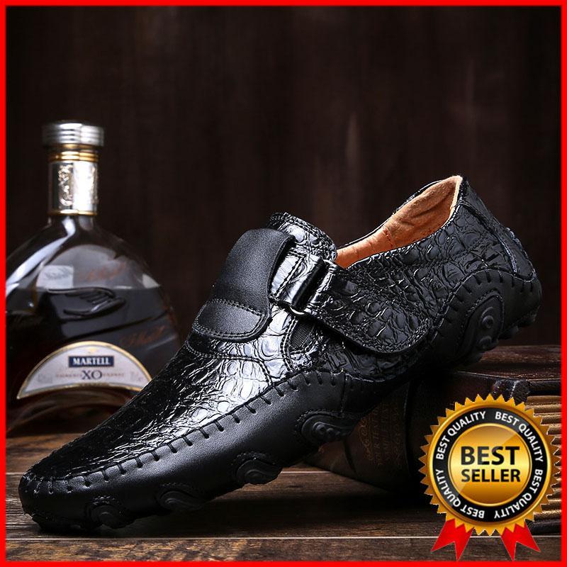 DanJi Men'S Shoes Baru Fashion Kulit Asli Sepatu Mengemudi Men'S Sepatu Kasual English Mengemudi Sepatu Sepatu Kasual