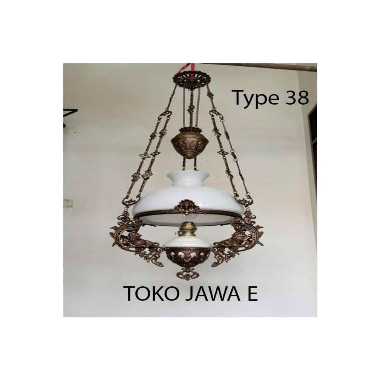 Lampu Kerek/Lampu Gantung/Lampu Betawi Model Kerek TYPE 35 - PUTIH