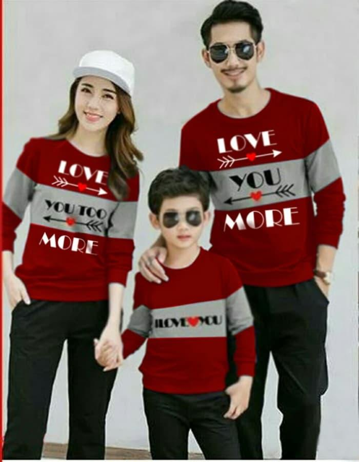 Fashion Story - Sweater Family Love U More /t-Shirt Keluarga I Babyterry I Ayah Bunda Dan Anak I Cod I By Fashion Story.