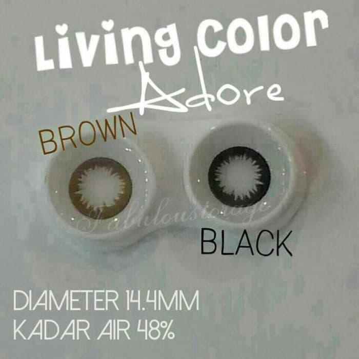 Softlens / Acessoris Softlens Living Color Adore/lovely/angel black/choco 1 tones Kualitas Super