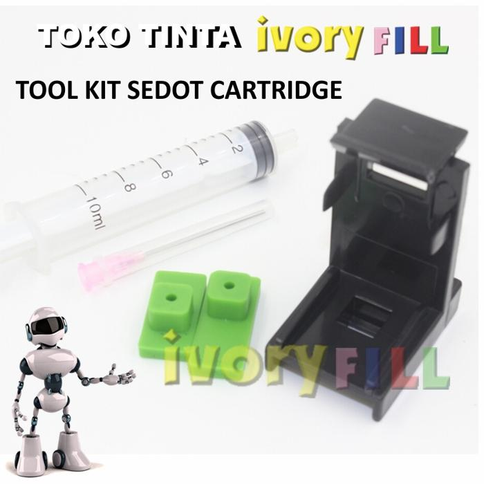 Ivoryfill Tool Kit Penyedot Sedot Tinta Cartridge Canon Pg 810 Cl 811 By Ivoryfill.