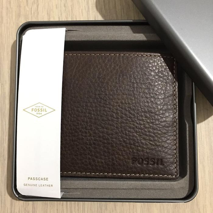 Jual dompet Pria Fossil with tinbox original ready