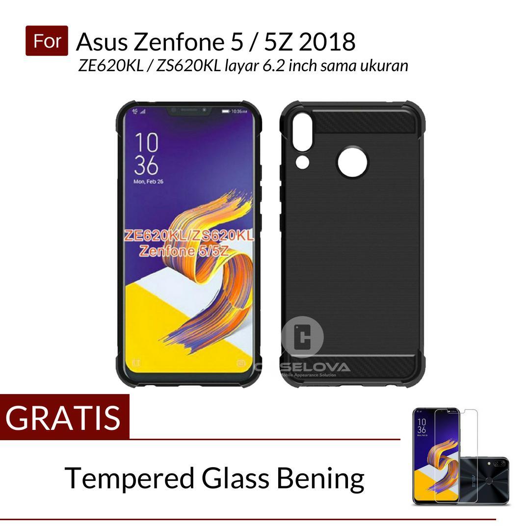 Caselova Corner Protection Cushion Premium Carbon Shockproof TPU Case For Asus Zenfone 5 / 5Z 2018