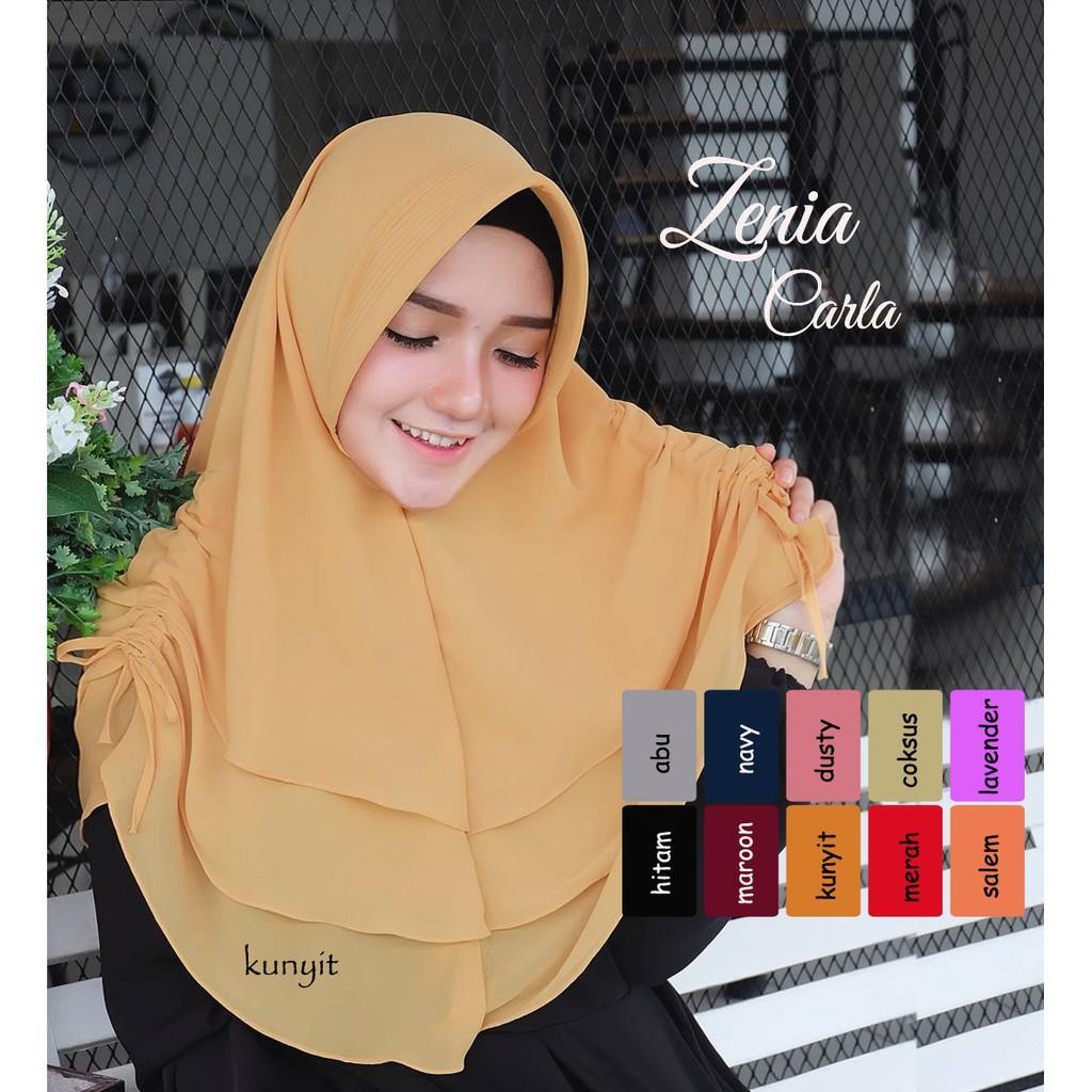 Jilbab Instan Zenia Carla / Pashmina Instan / Hijab Syari / Murah Wanita / Vanila Hijab