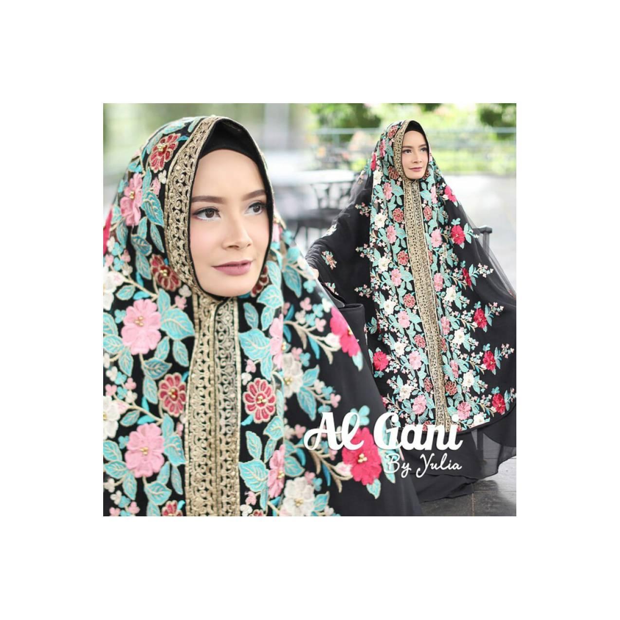 Mukena Ashanty Hitam Elegan ori Al Gani Harga Reseller Terbaru 2018