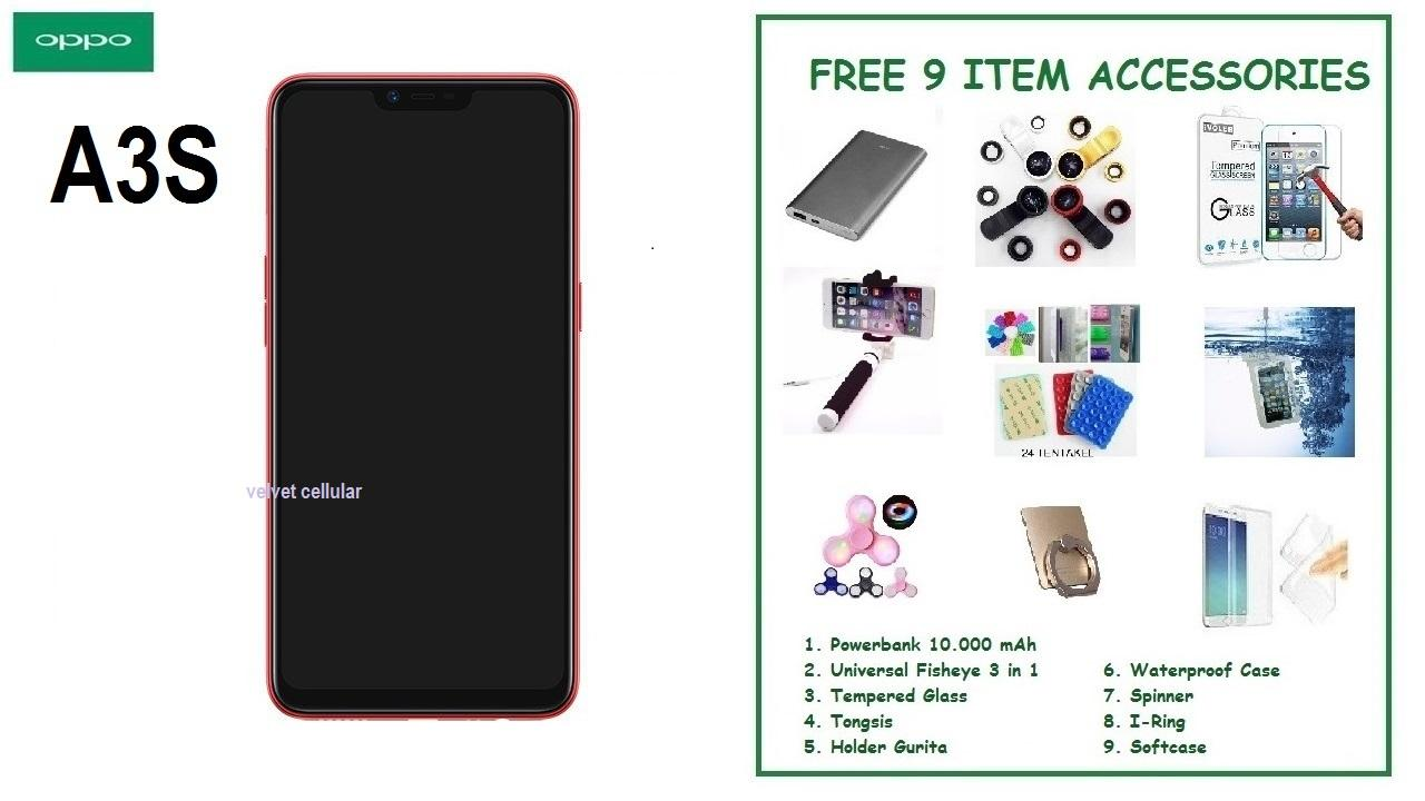 OPPO A3S [2/16GB] + 9 ITEM ACCESSORIES