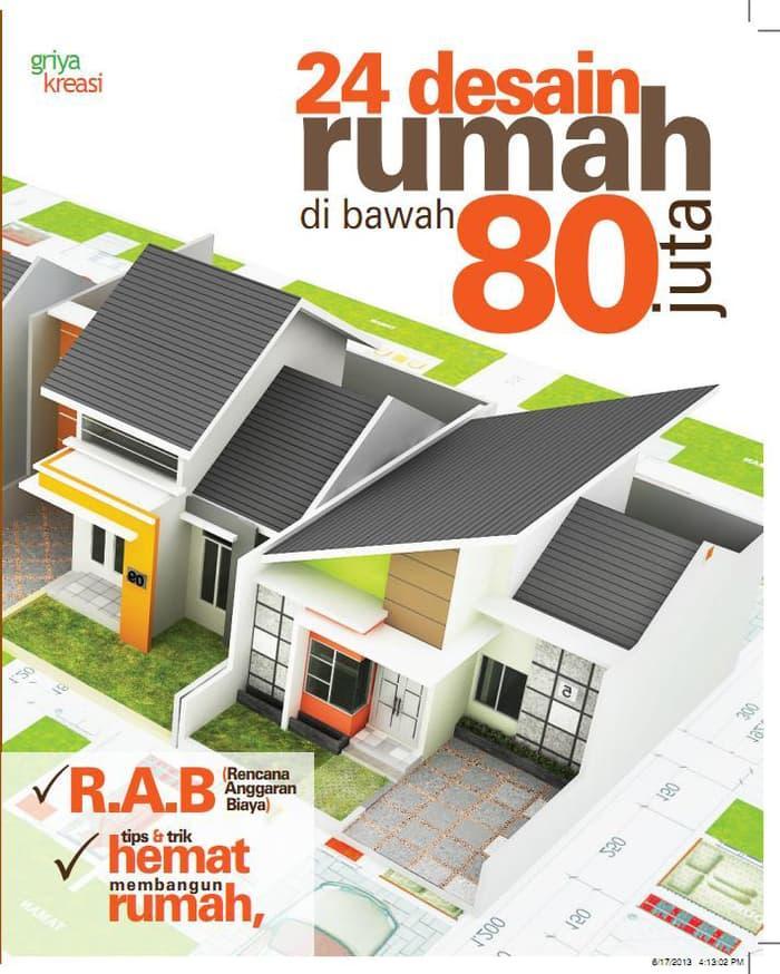 ORIGINAL 24 DESAIN RUMAH DIBAWAH 80 JUTA -DMAXIMUS arc. MP BGL 2072 Buku Desain Rumah