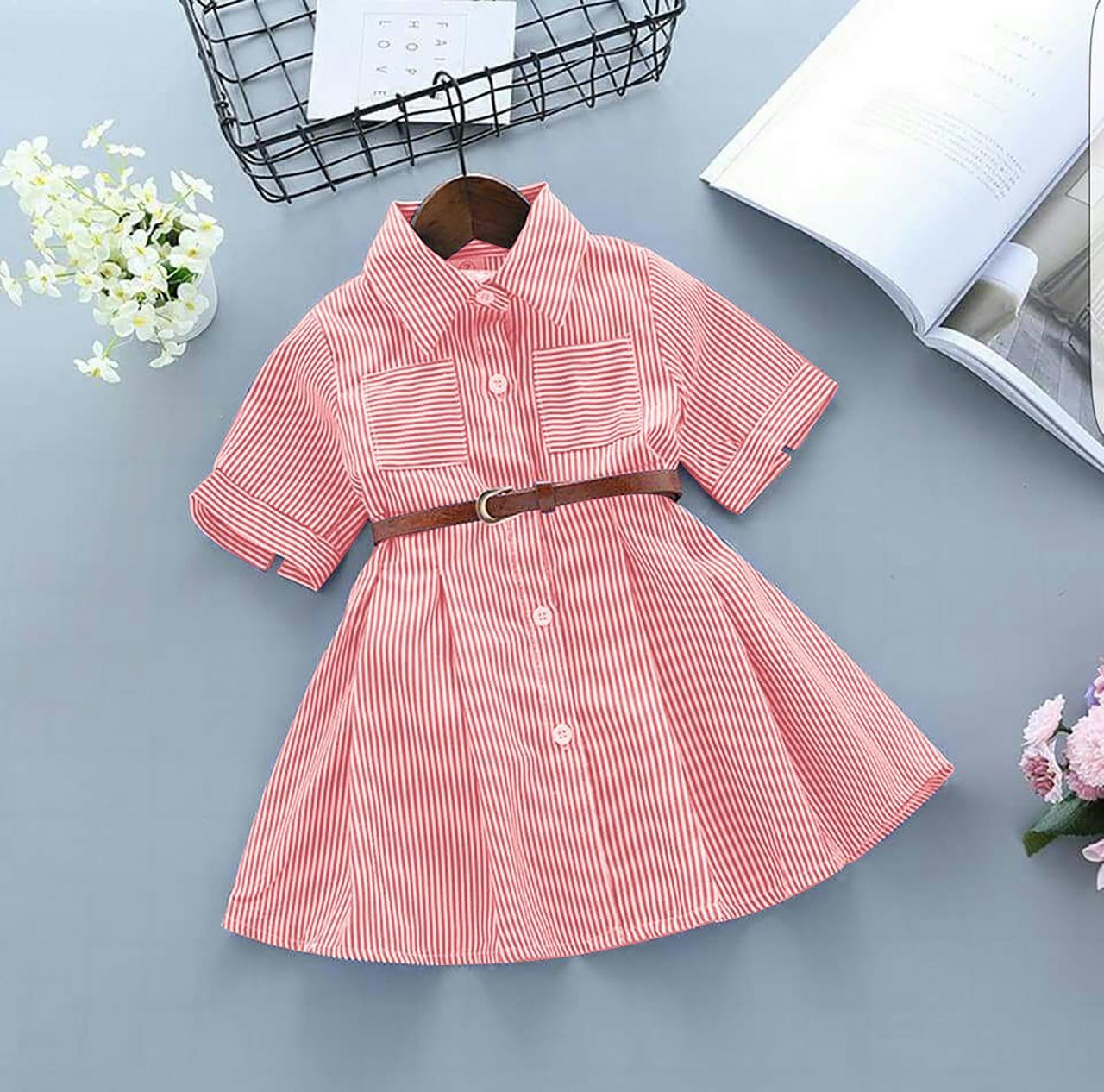 HRV Shop Dress Anak Cewek Catty Salur   Dress Anak Perempuan   Baju Terusan  Anak Perempuan 3b0b93cc8a