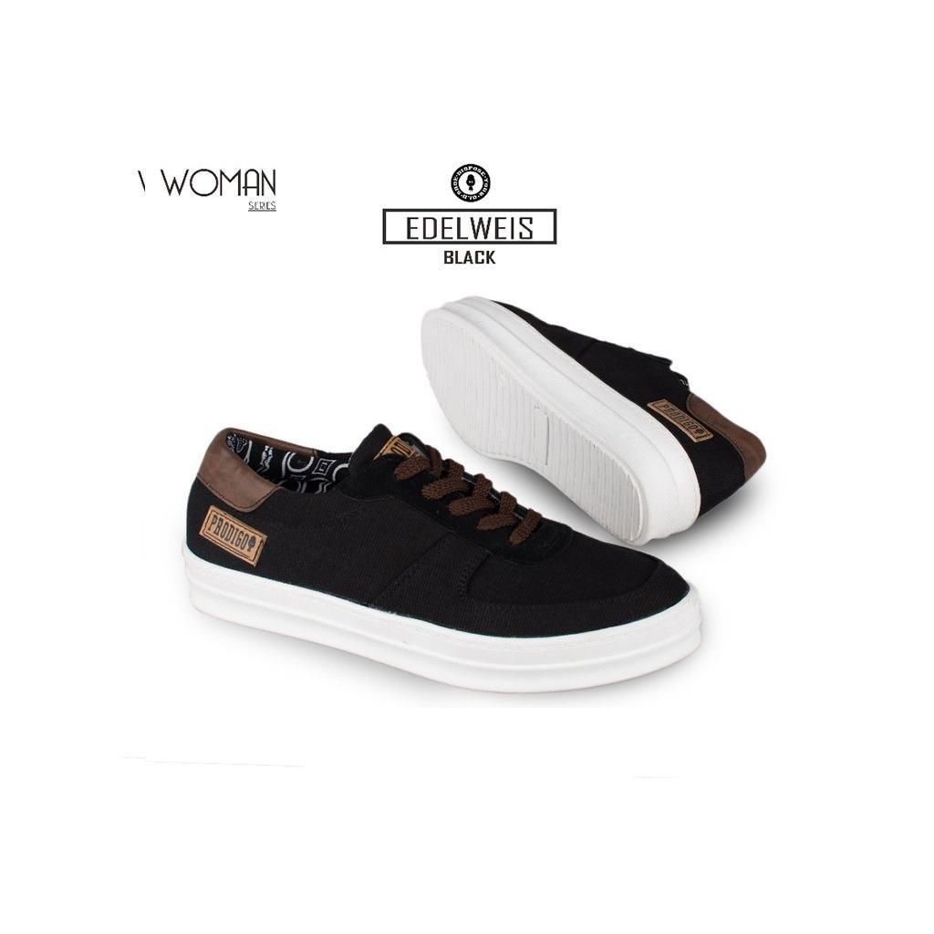 Sepatu Pria Casual Sneakes Pria Edelweis Pro Modern Terbaru - Hitam