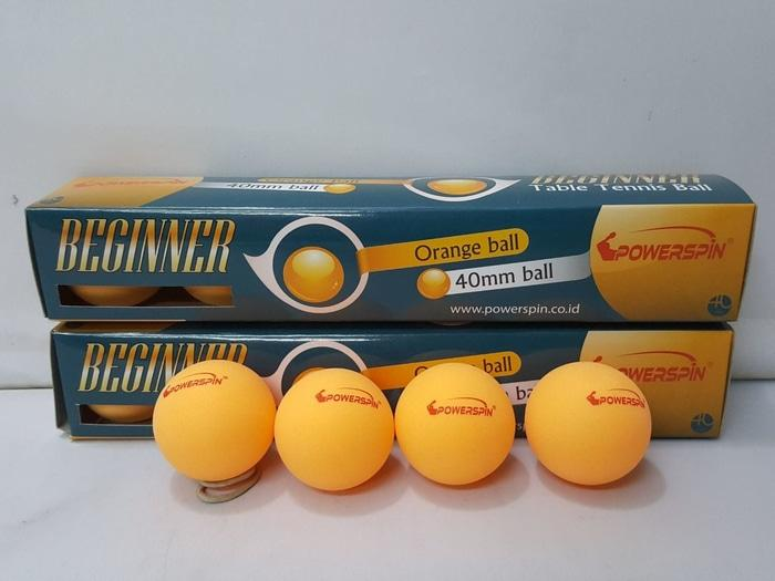 BEST SELLER!!! Bola Pingpong / Tenis Meja - Power Spin Beginer isi 6 (Original) - buQ8X8