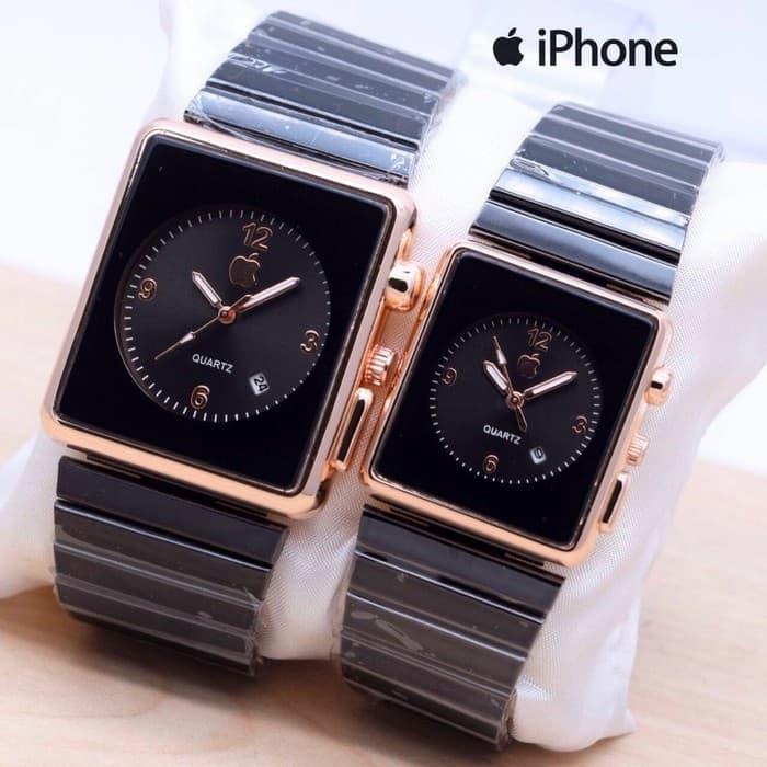 Jam Tangan Iphone Couple Apple Watch Touch Rantai Jam Pria Wanita – Black  Rose Keren Murah Terbaru Original b7870799a4