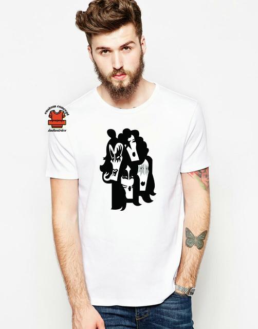 T-Shirt Kaos Kiss Band - Cotton Combed 20S 30S Unisex