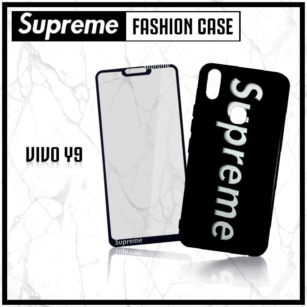 BCS Softcase Supreme Hitam Plus Tempered Phone Case New Vivo V9