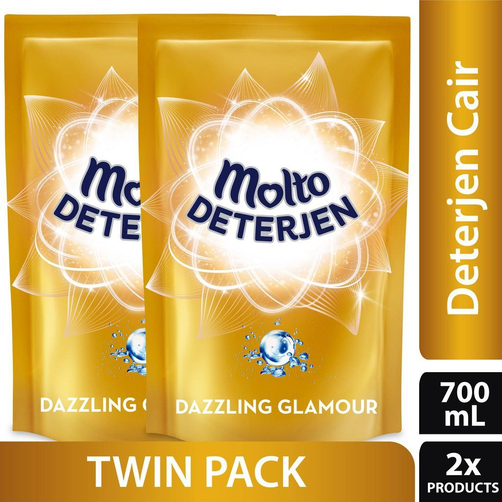 Harga Deterjen Rinso Molto 50g Isi 6 Sachet Rp 6000 Cair Dazzling Glamour Pouch 700ml Gold Twin Pack